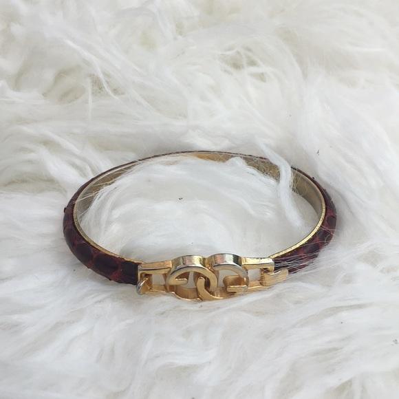 5341545a2de Gucci Jewelry - Gucci Firenze Gold plated snakeskin bracelet